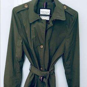 Green Tommy Hilfiger Ladies Trench Coat